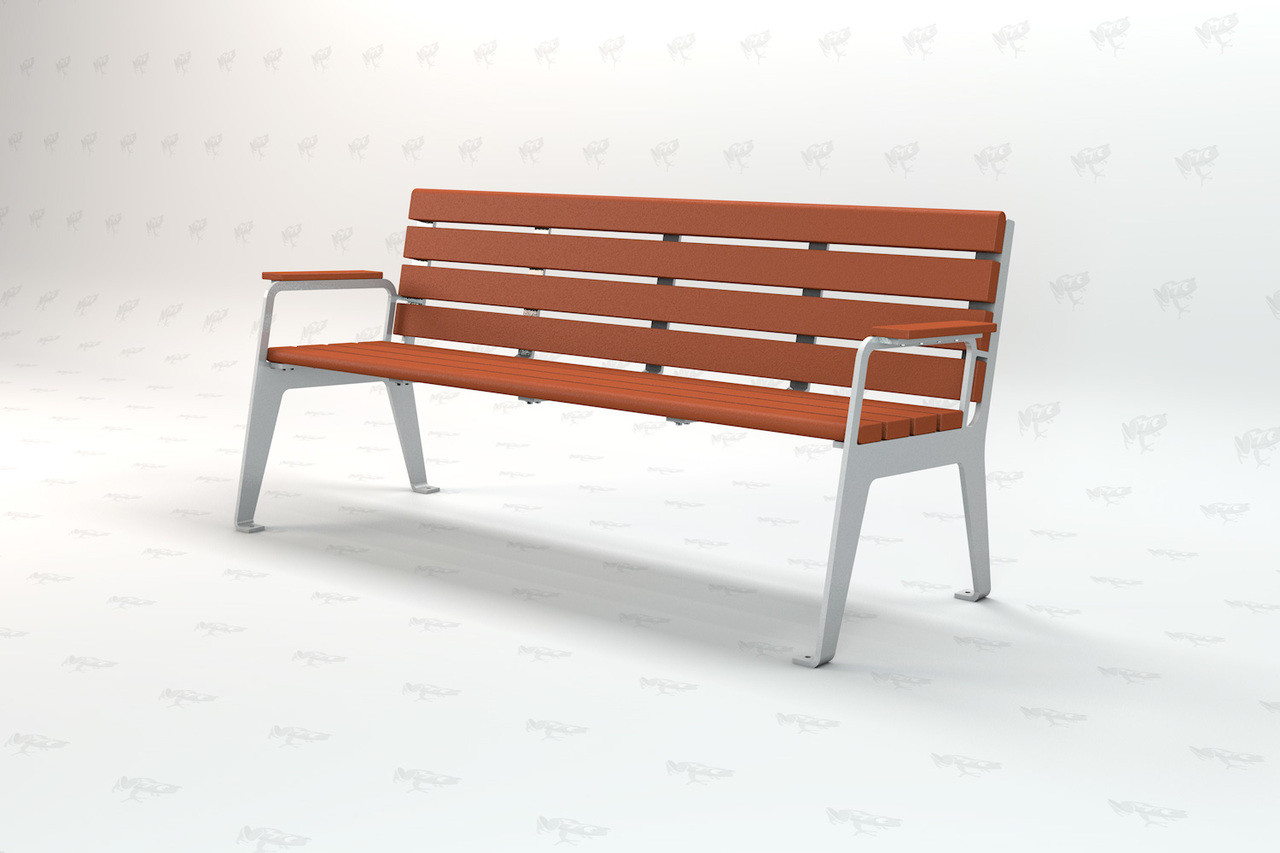 Plaza Recycled  Plastic 4ft Park Bench