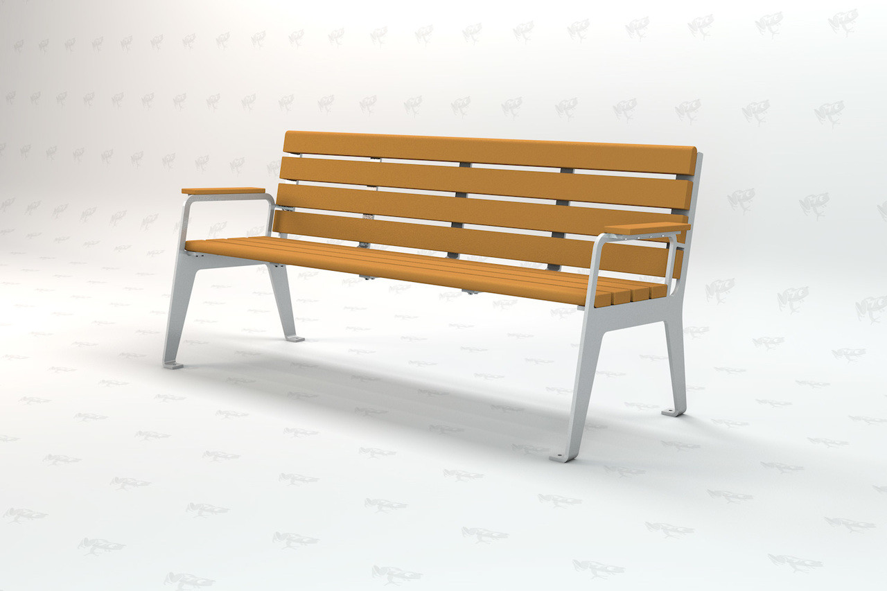 Plaza Recycled Plastic 6 ft Outdoor and Park Bench
