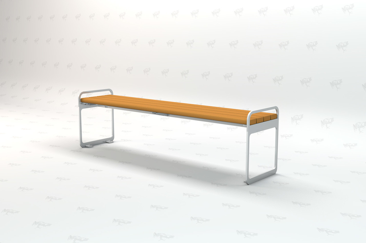 Plaza Backless Recycled Plastic 6ft Outdoor and Park Bench