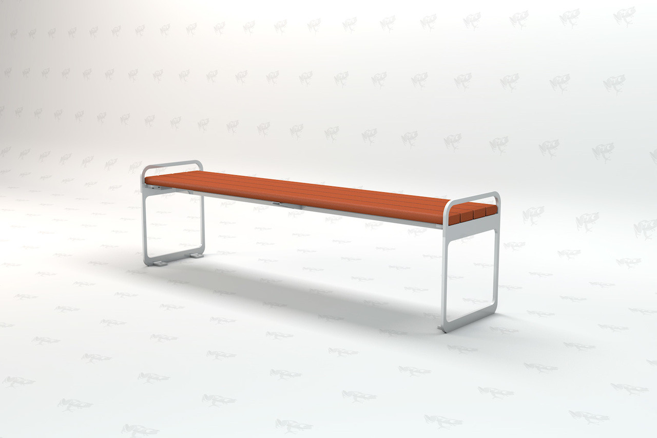 6ft Plaza Backless Recycled Plastic Park Bench