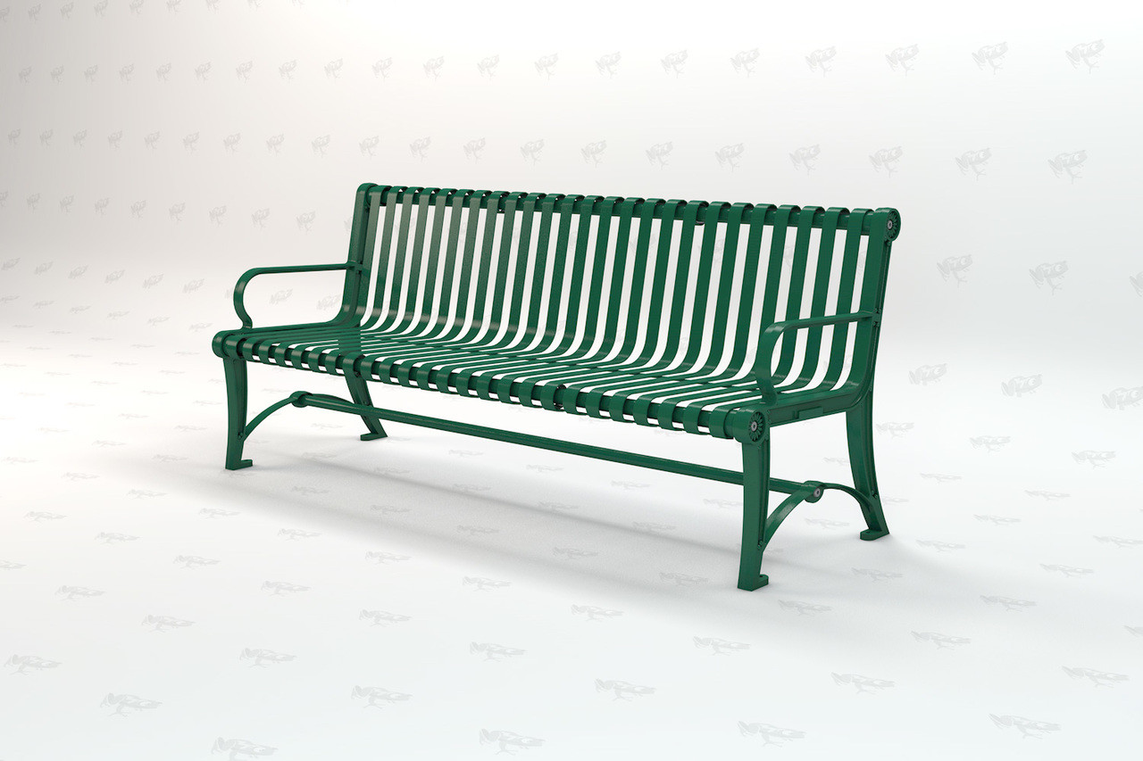 6ft. Blair Recycled Plastic Outdoor and Park Bench - Green