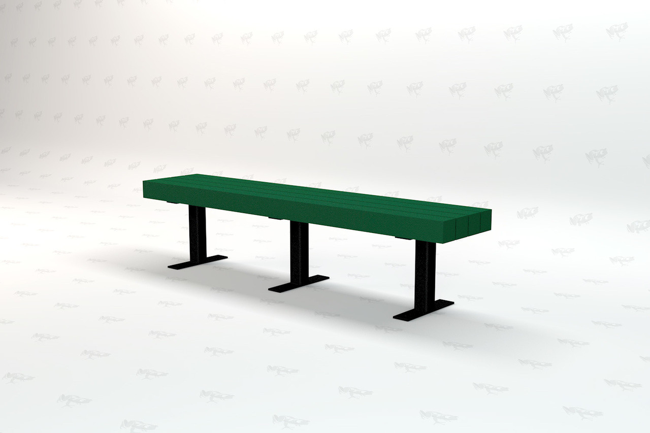 6ft. Trailside Recycled Plastic Outdoor and Park Bench - Green