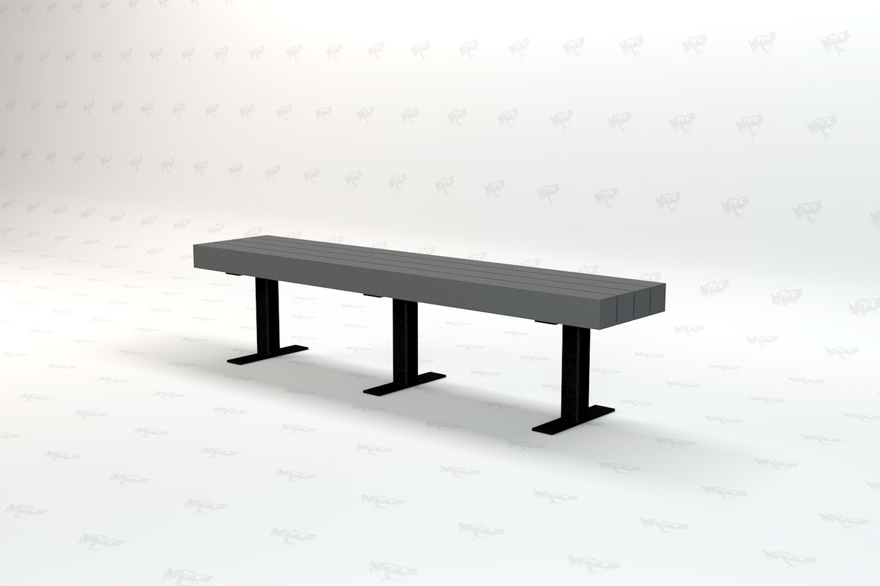 8ft. Trailside Recycled Plastic Outdoor and Park Bench - Gray