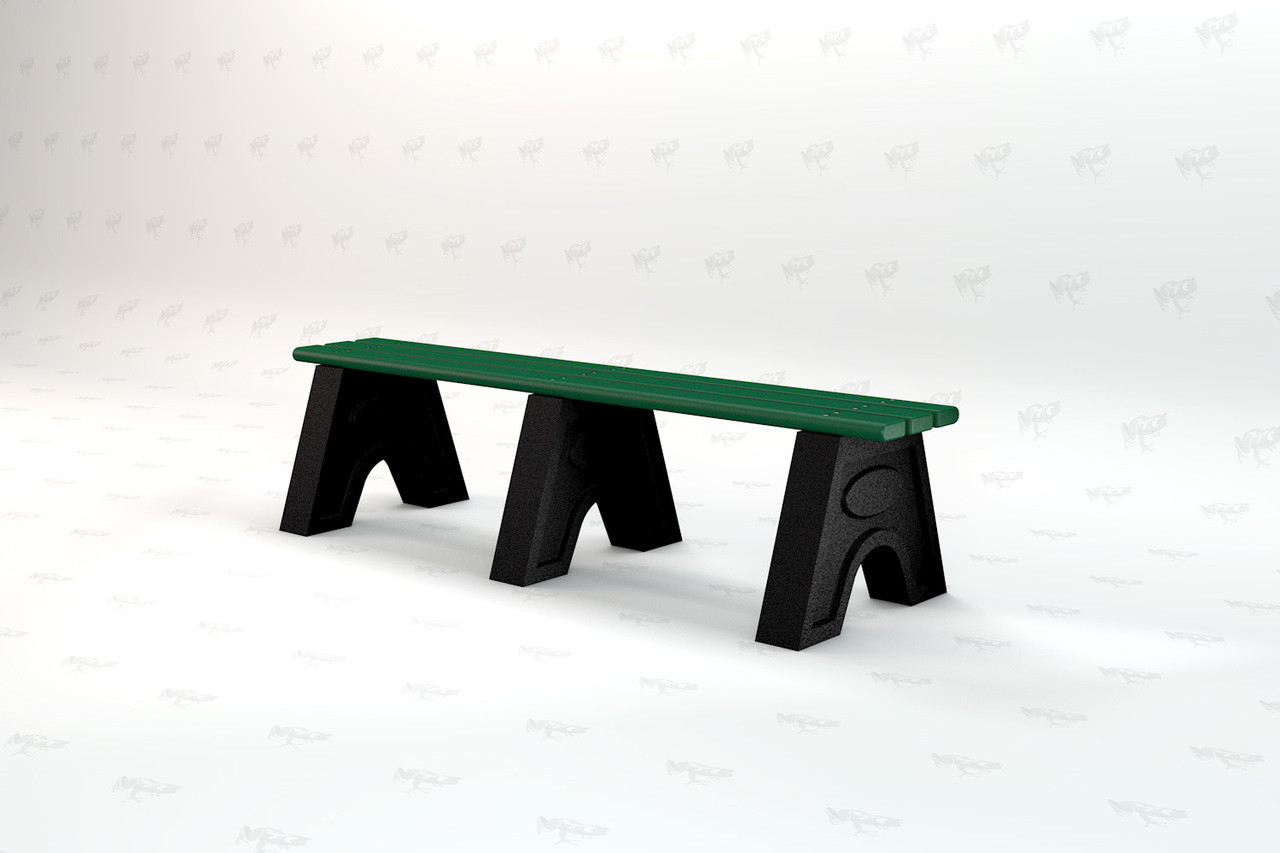6ft. Sport Recycled Plastic Outdoor and Park Bench - Green
