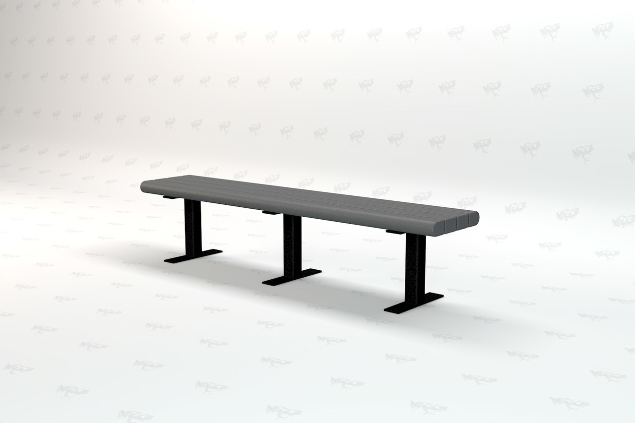 4ft. Garden Recycled Plastic Outdoor and Park Bench - Gray