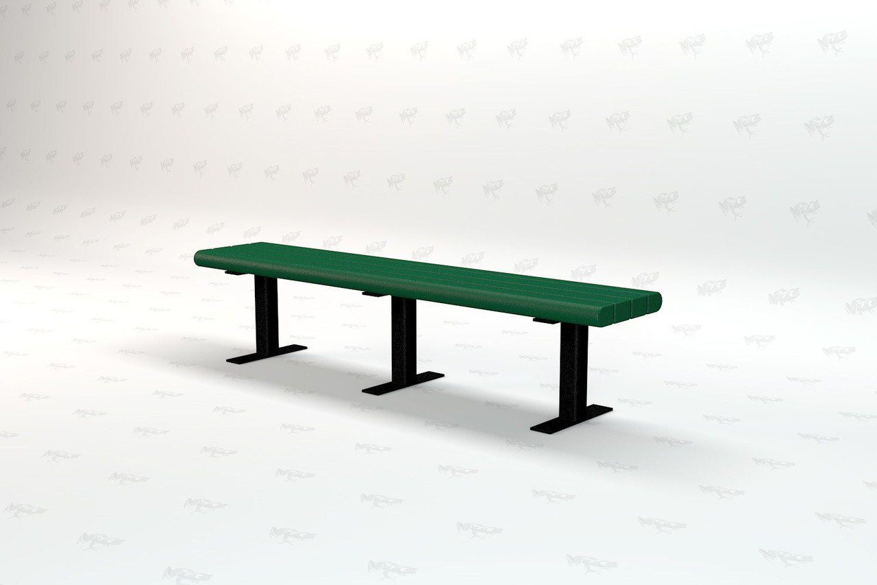 8ft. Garden Recycled Plastic Outdoor and Park Bench - Green