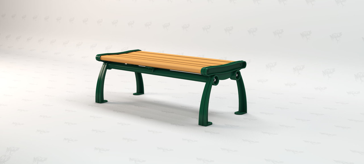 5ft. Heritage Backless Recycled Plastic Outdoor and Park Bench - Cedar