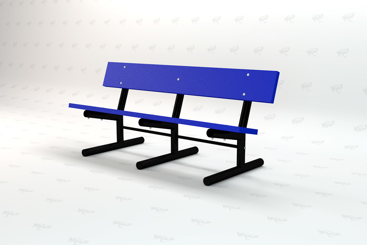 6ft. Madison Recycled Plastic Outdoor and Park Bench - Blue