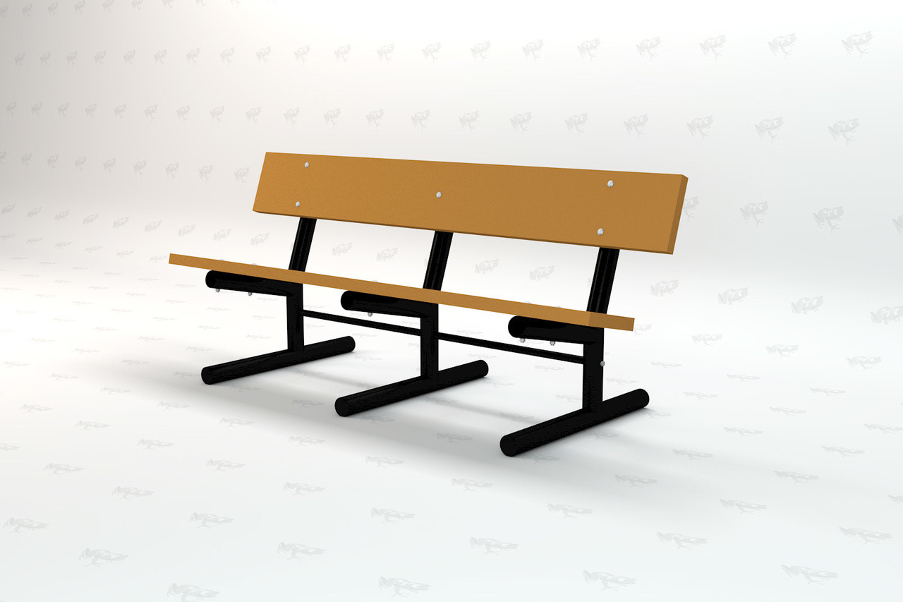 6ft. Madison Recycled Plastic Outdoor and Park Bench - Cedar