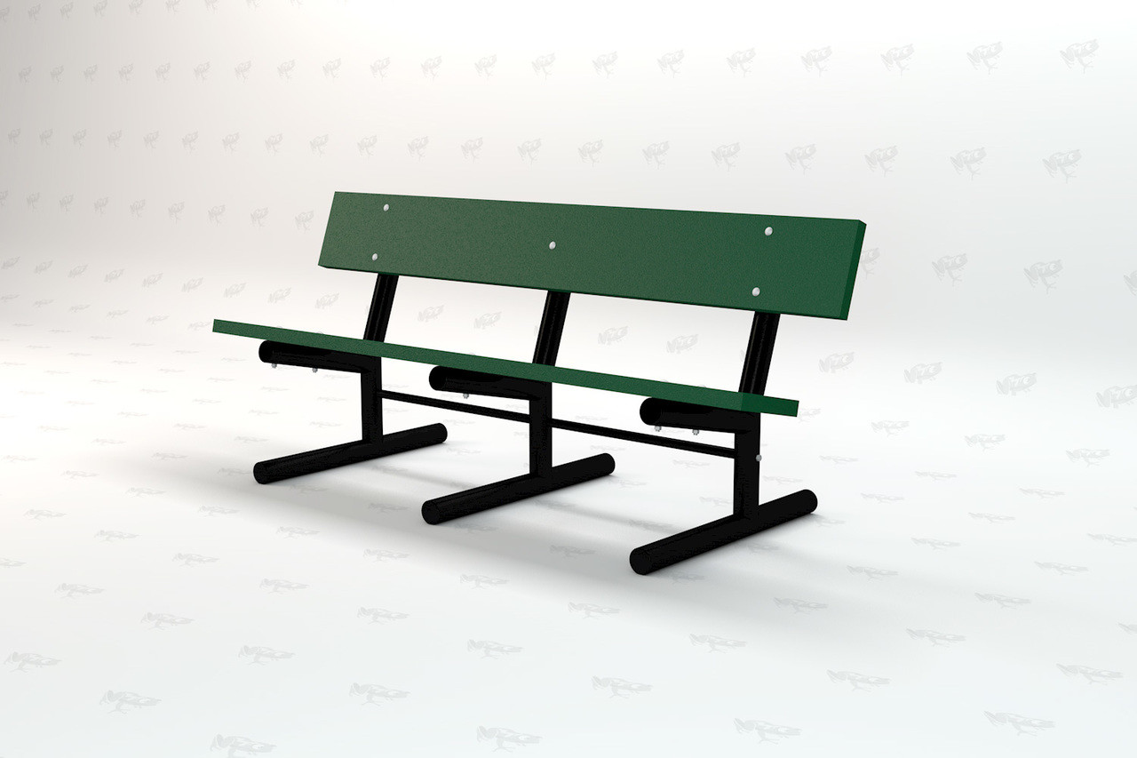6ft. Madison Recycled Plastic Outdoor and Park Bench - Green