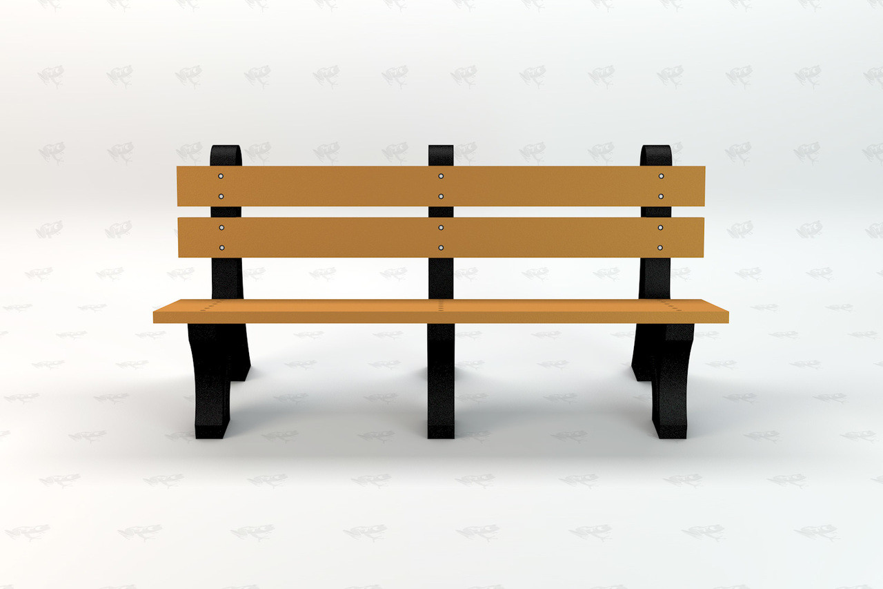 Windsor Recycled Plastic Outdoor and Park Bench - Cedar