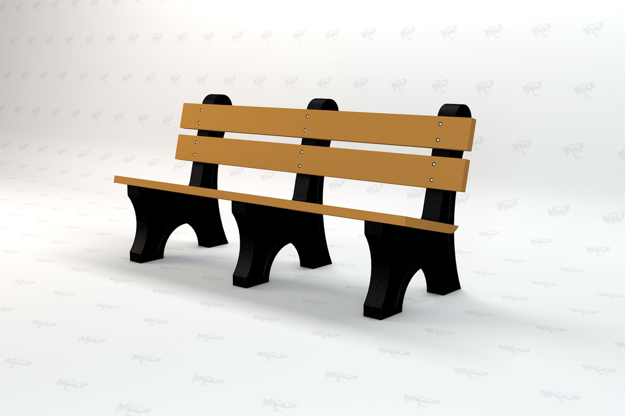 Windsor Recycled Plastic Park Bench - Cedar