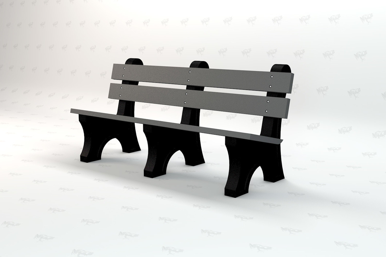 6ft. Windsor Recycled Plastic Outdoor and Park Bench - Gray