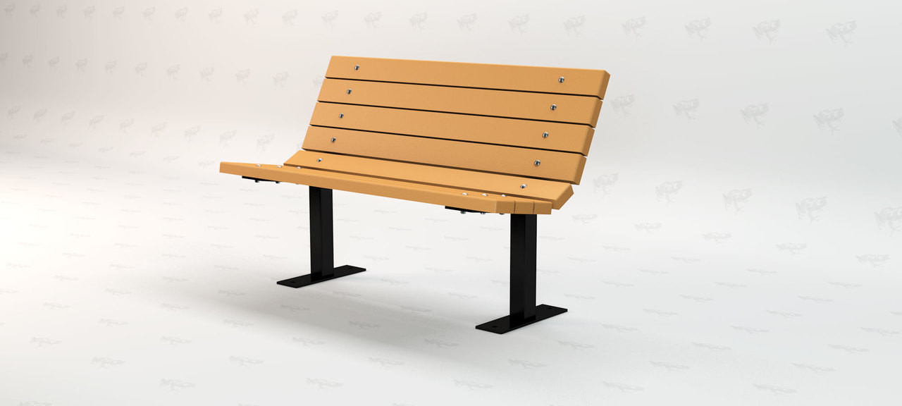 4ft. Contour Recycled Plastic Outdoor and Park Bench - Cedar