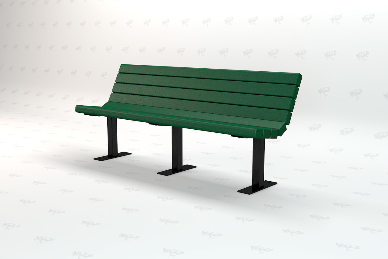 6ft. Jamison Recycled Plastic Outdoor and Park Bench