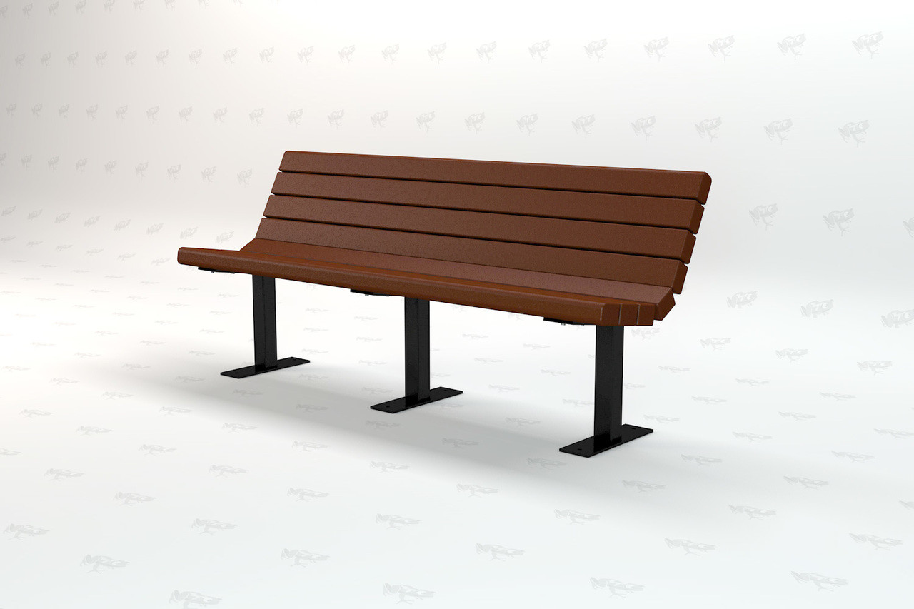 8ft. Jamison Recycled Plastic Outdoor and Park Bench