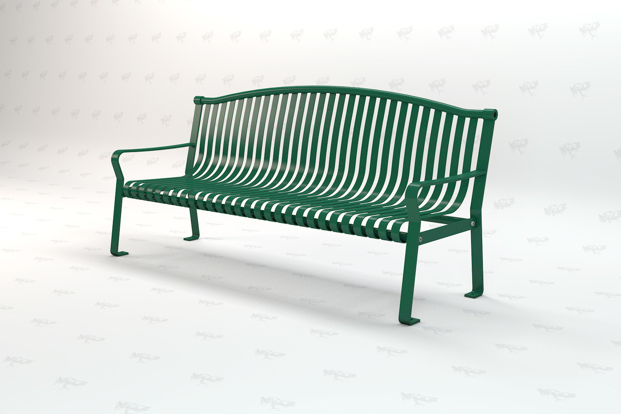 6ft. Rockford Recycled Plastic Outdoor and Park Bench