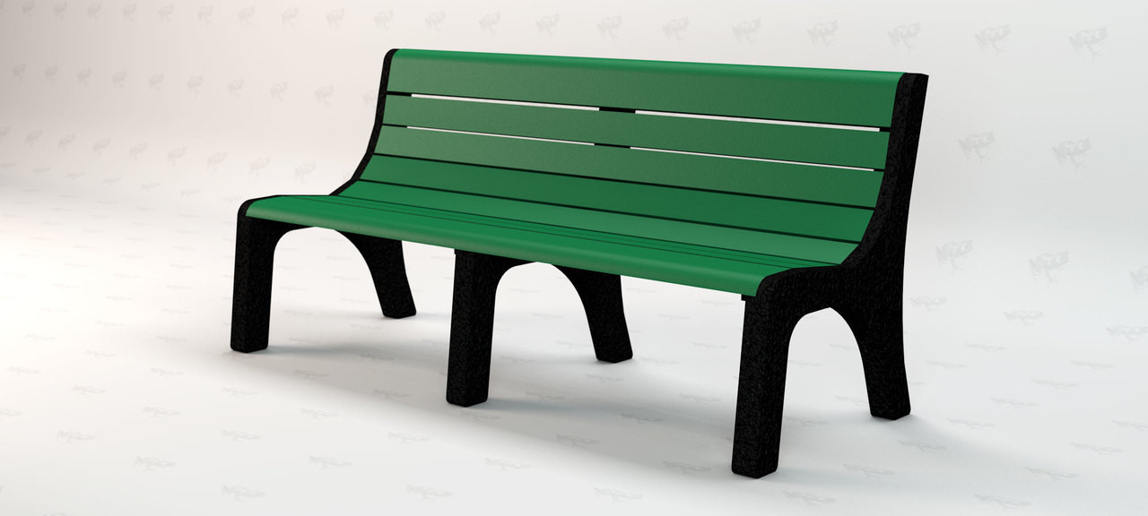 6ft. Newport Recycled Plastic Outdoor and Park Bench