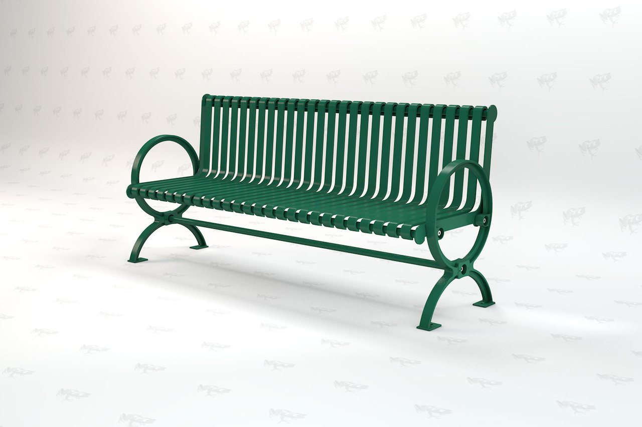 6ft. Wellington Recycled Plastic Outdoor and Park Bench