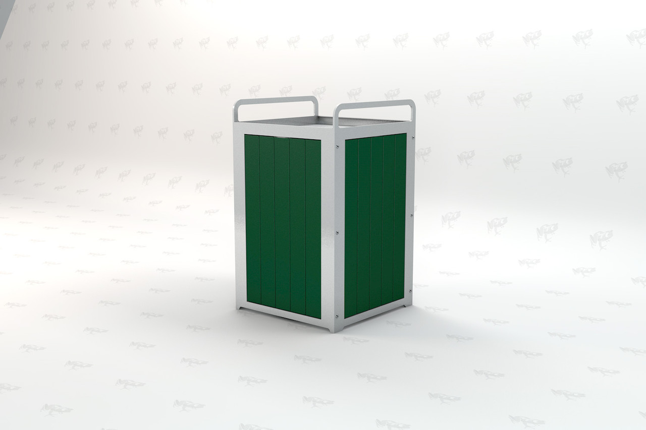 Plaza Recycled Plastic Receptacle - Green