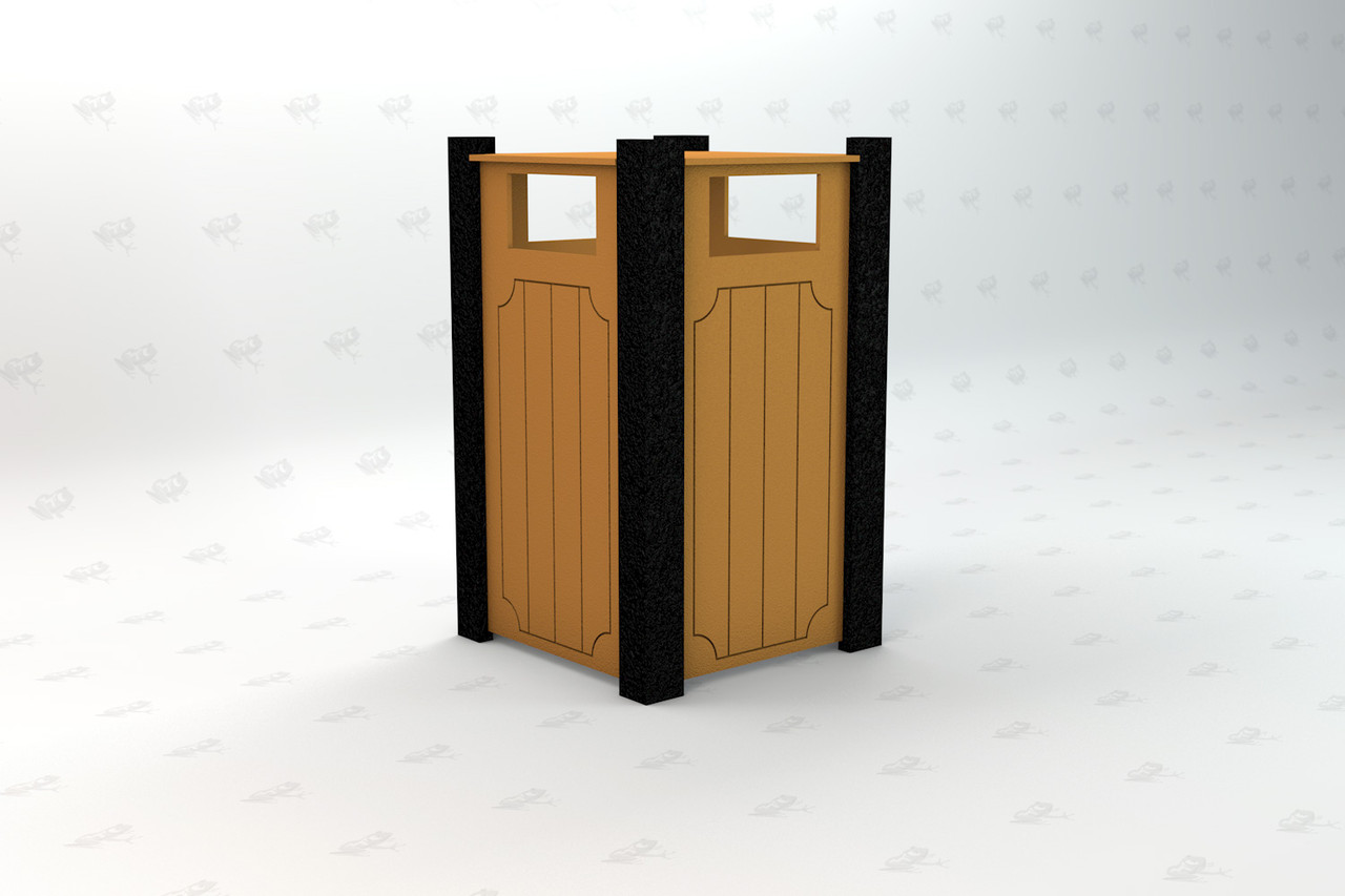 Ridgeview Recycled Plastic Receptacle - Cedar
