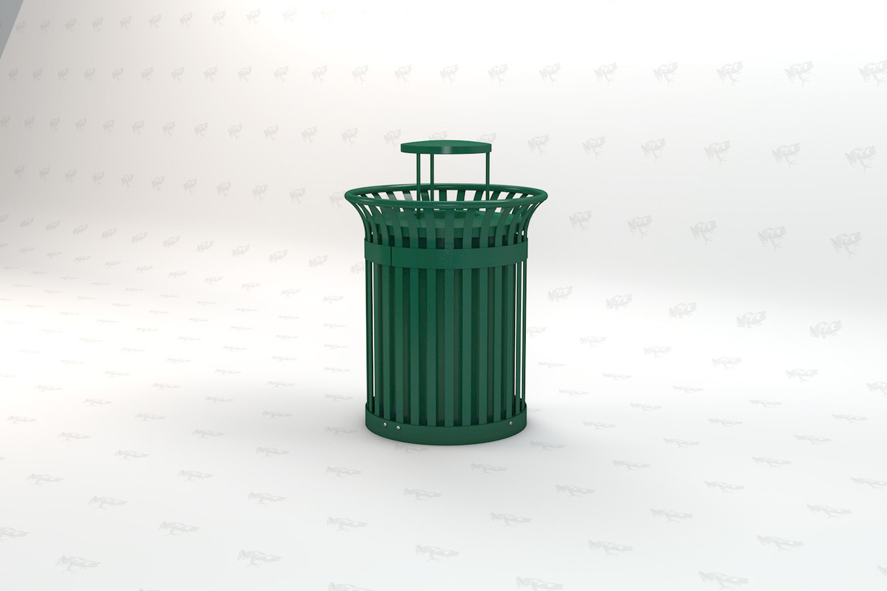 Richmond Recycled Plastic Receptacle - Green