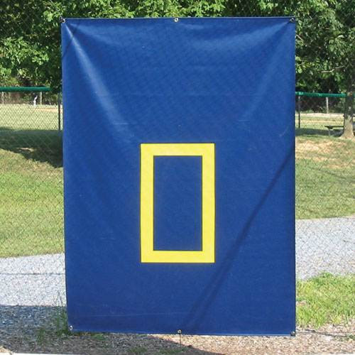 Baseball Cage Saver - 30 oz. Navy with Yellow Zone