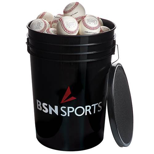 BSN SPORTS  Bucket with 36 Mark 1 Official League Baseballs