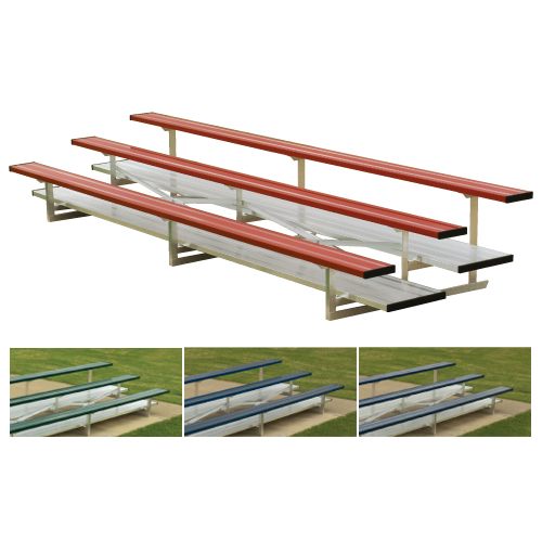 2 Row 15' Standard Aluminum Bleacher (seats 20) add Color