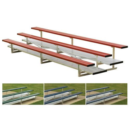 2 Row 21' Powder Coated Standard Aluminum Bleacher (seats 28)