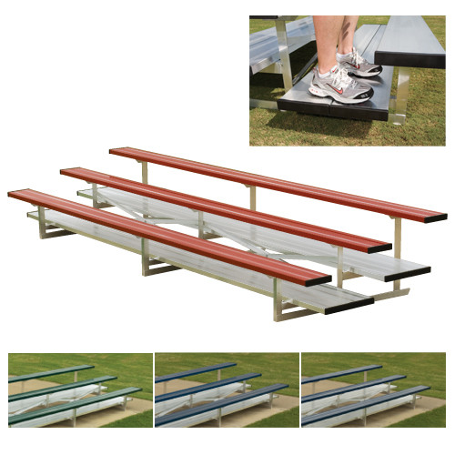 2 Row 21' Powder Coated Preferred Aluminum Bleacher (seats 28)