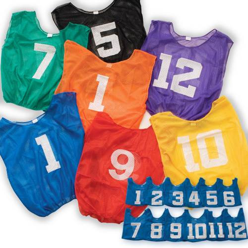 Lightweight Numbered Scrimmage Vest-Adult