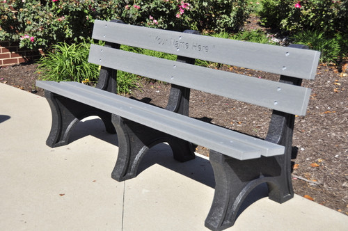 Colonial Recycled Plastic Outdoor and Park Bench - 6'