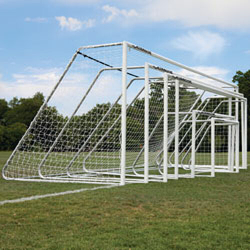 "4x6 soccer goals Alumagoal 3"" round white powder coated"