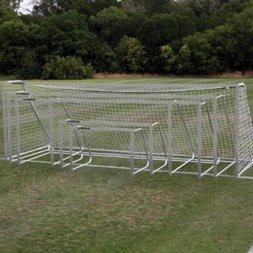 Alumagoal Soccer Goal 6.5x18.5 aluminum finish