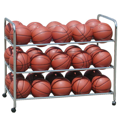 Double Wide Steel Basketball Ball Cart