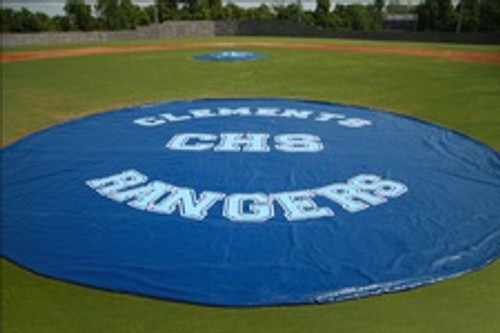Baseball Field Covers Weighted 18 oz. 30' Diameter Mound & Base Protector