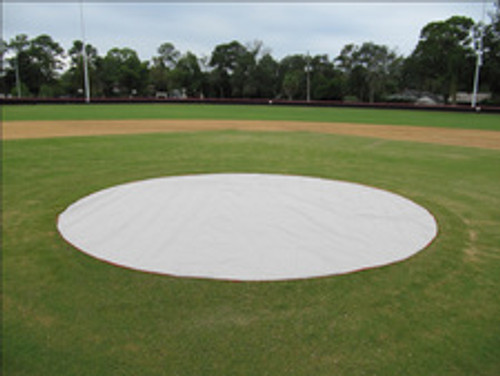 Weighted 6 oz. 10'x10' Square Base Protectors - Baseball Field Covers