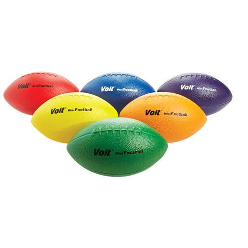 "Coated Foam 8 1/2"" Football Set of 6"