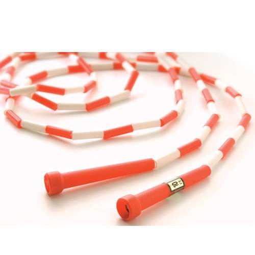 10' Segmented Skip Rope Red/White