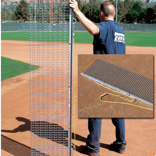 Baseball field maintenance rigid drag mat