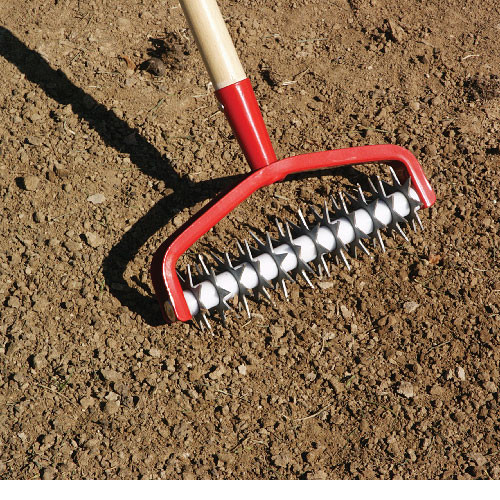 Baseball field maintenance overseed enhancing tool