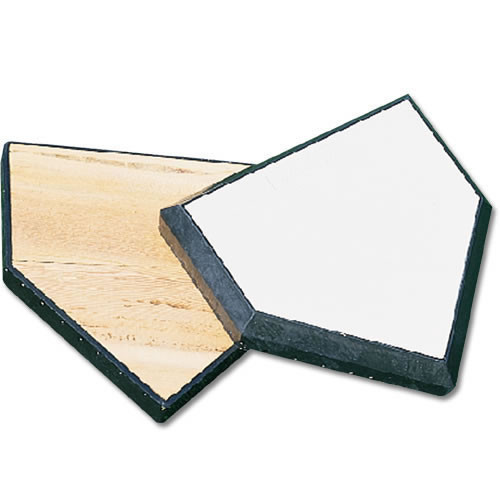 Wood-filled baseball home plate