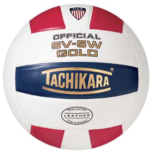 Tachikara SV-5W Gold Leather Volleyball2