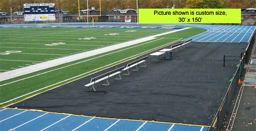Football field Bench Zone Track Protector