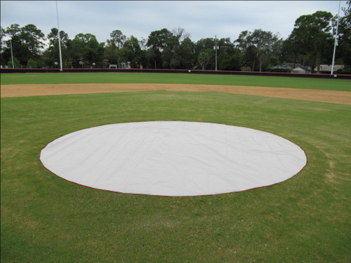 15' Non-weighted Baseball Mound/Base Covers - 6 oz. Poly