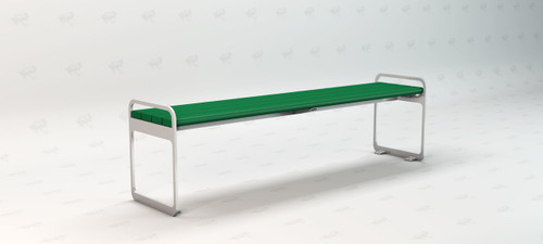 Plaza Backless Recycled Plastic Outdoor and Park Bench - 6'
