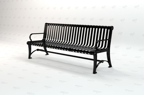 6ft. Blair Recycled Plastic Outdoor and Park Bench - Black