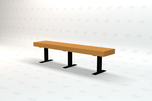 4ft. Trailside Recycled Plastic Outdoor and Park Bench - Cedar