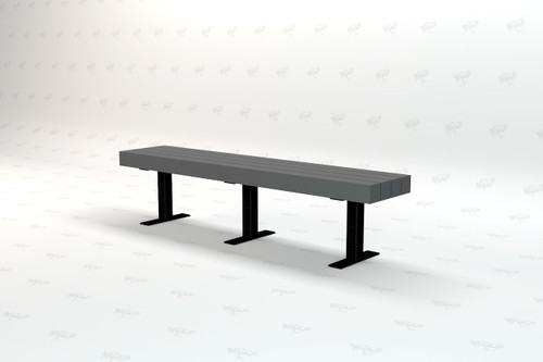 4ft. Trailside Recycled Plastic Outdoor and Park Bench - Gray